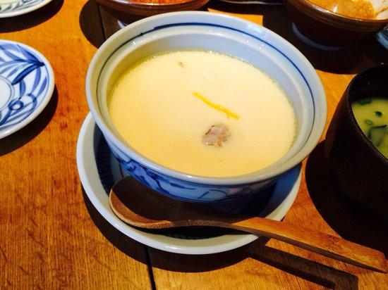 Katsukura, Kyoto Station Bldg The Cube: Nice steam egg 420 yen