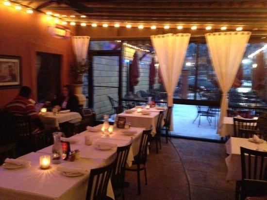 Lemoncello Italian Restaurant Bar Left Side Dining Area