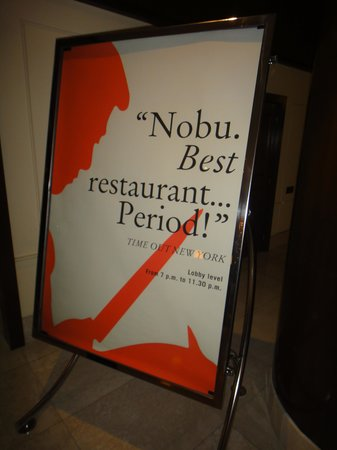 Fairmont Monte Carlo: Nobu Restauraunt in the Lobby