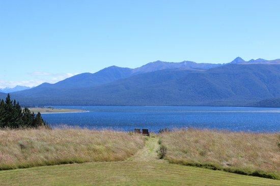 Fiordland Lodge: Blick vom Balkon
