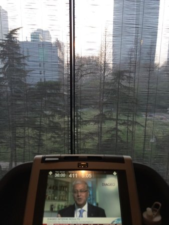 The PuLi Hotel and Spa : View from the fitness room