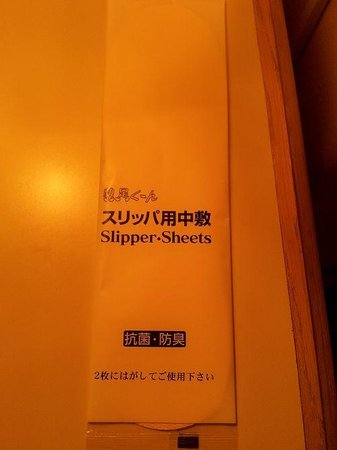 Kyoto Tower Hotel: スリッパ用中敷