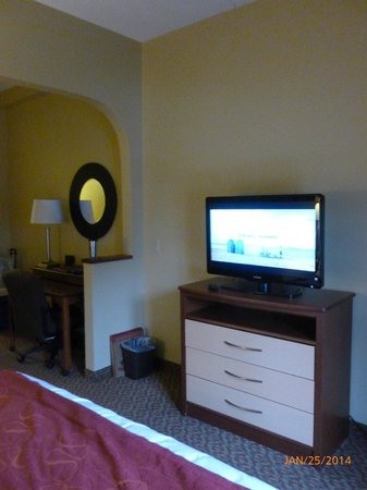 Comfort Suites : Nice sized flat screen