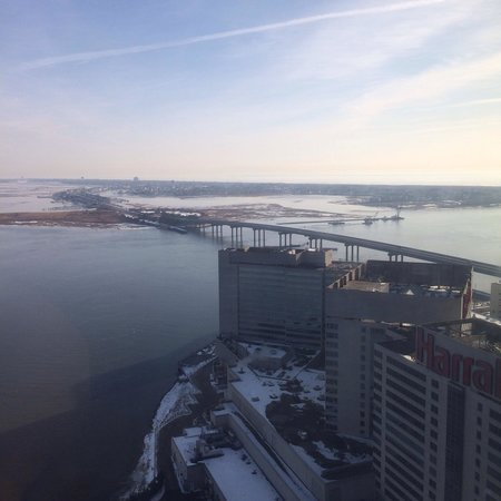 Harrah's Resort Atlantic City: The view from the waterfront tower