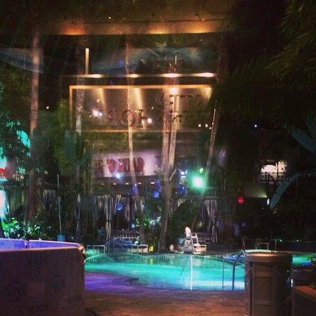 Harrah's Resort Atlantic City: The pool after dark