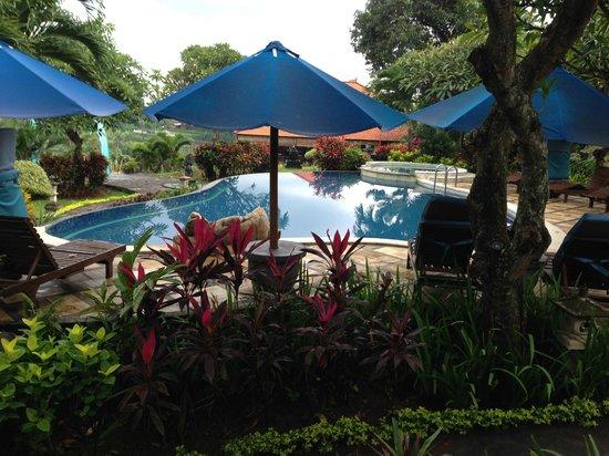 Puri Mangga Sea View Resort & Spa: Pool and seating around pool