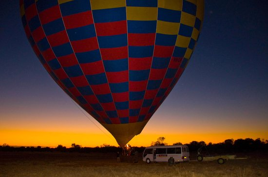 Outback Ballooning: Setting up