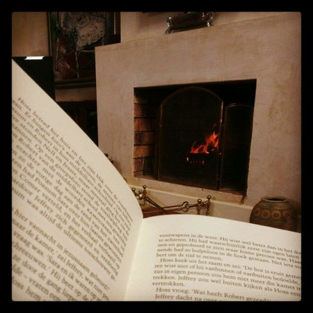 River Roost : When it is cold there is nothing better then a good book in front of the fire place!