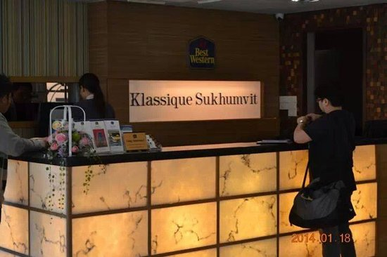 Klassique Sukhumvit: upon check-in to BWKS