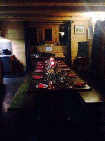 Chalet Sterwen : Dinner table