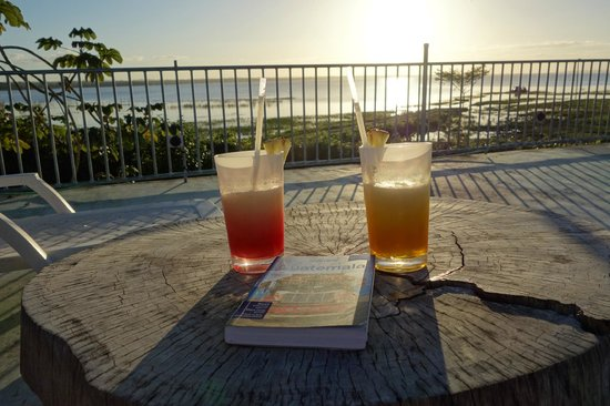 La Casa De Don David : Sunset Drinks from the deck