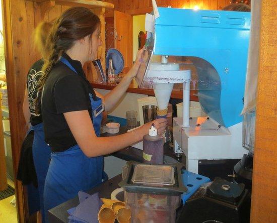 Cafe Irresistiblue at Monavale Blueberries: The ice cream machine
