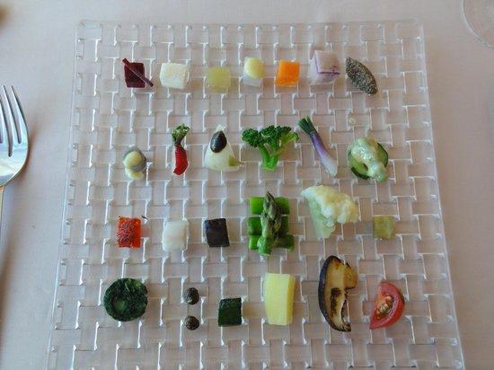 Ginza Chez Tomo: 野菜28種盛
