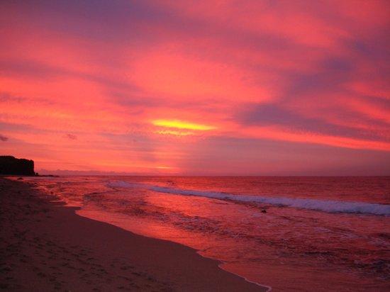 Hôtel Boucan Canot : coucher soleil sur la plage