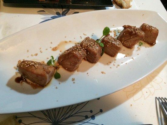 Loaira Xantar: Tacos de atún con sésamo y soja
