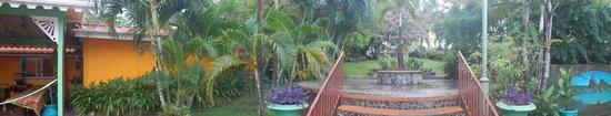 Coco Palm Resort : Panorama of the entrance view from the Creole property up towards the hotel