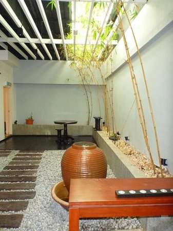 South Sea Sanctuary: View of interior garden, waiting for our spa to begin