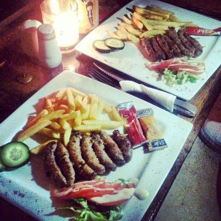 Palais Jena & Spa : Sausage skewers