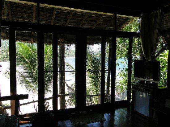 Koh Tao Cabana: Vue du lit