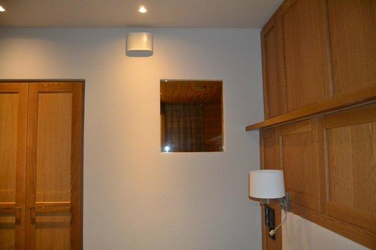 Lapland Hotel Olos: Vu sauna sur chambre