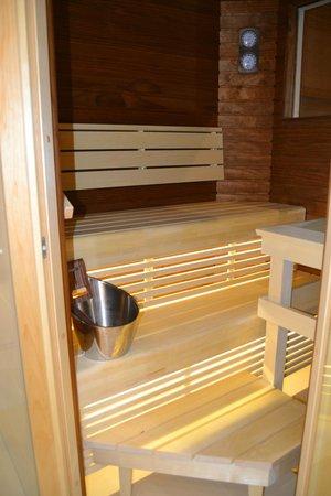 Lapland Hotel Olos : Sauna dans la chambre