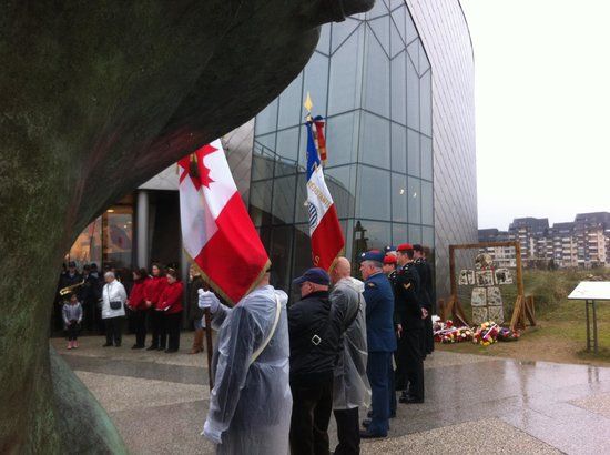 Juno Beach Centre: Canadian military and dignitaries present for the ceremonies