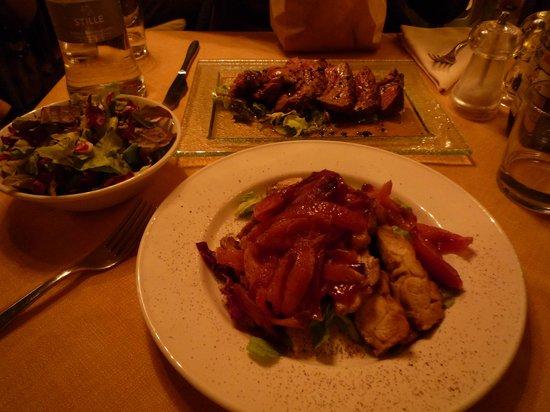 Caciodivino: ステーキも美味しかったです。
