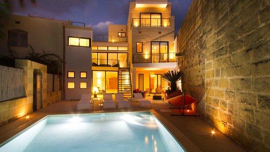 Thirtyseven Gozo: Evening Pool Area