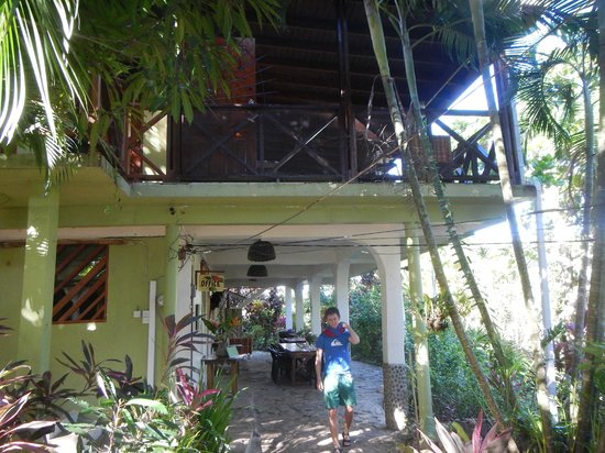 Hibiscus Valley Inn : Entrance - breakfast area below, dinner area above
