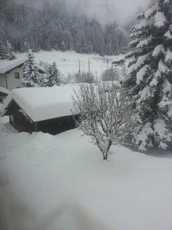 Haus Anika: Unser Garten versinkt im Schnee