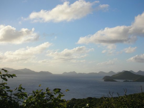 Peter Island Resort and Spa: View from Sunset Loop over the islands
