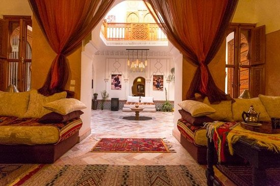 Riad Radia : View from ground floor lounge/diner