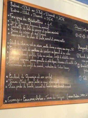 Bistrotters : Quadro com menu