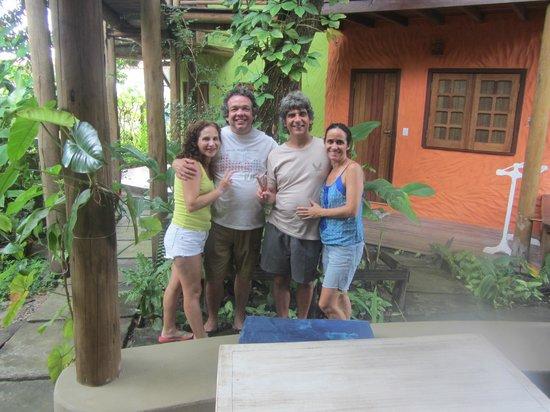 Pousada Aldeia : com Ricardo e Flávia