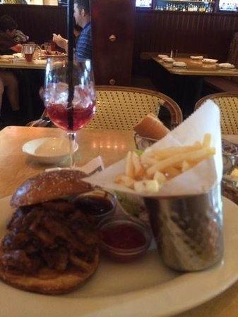The Cheesecake Factory : pulled pork, sangria and fries....delish!