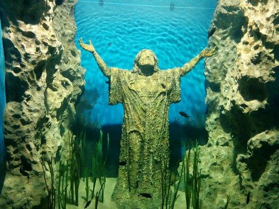 Malta National Aquarium: Jesus statue