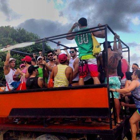 bluevenado beachclub and restaurant: transporte