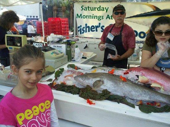 Fresh fish at the Saturday Morning Market St. Pete