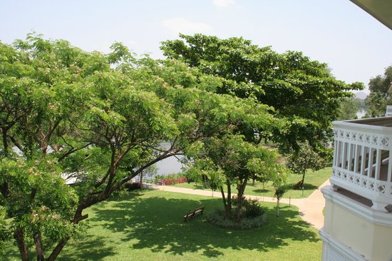 Dheva Mantra Resort: vue de la 1ère terrasse