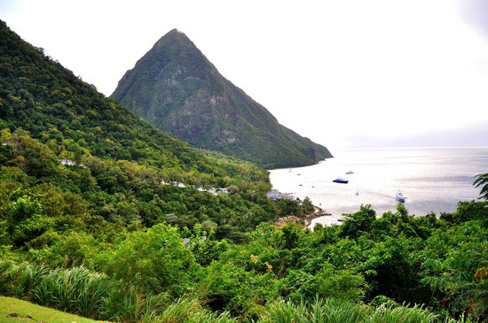 Sugar Beach, A Viceroy Resort: View of the Gros Piton from Sunset Deck