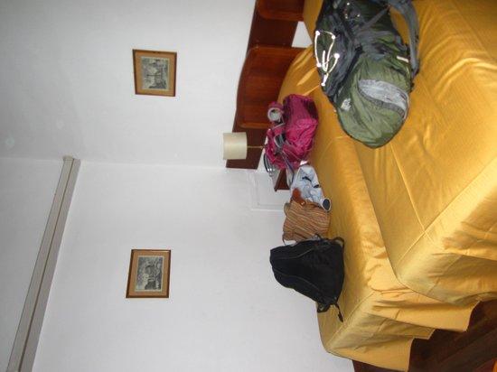 Hotel Teatro di Pompeo: room/bedding