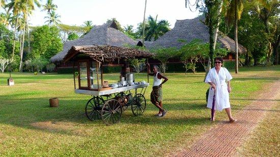 Marari Beach Resort: Service thé, café et autres boissons ambulant