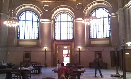 Central Public Library: Windows - shades were removed for more light
