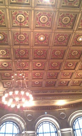 Central Public Library: restored ceiling