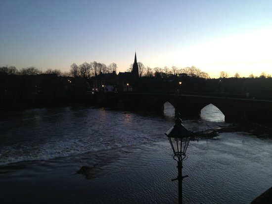 Walls of Chester: Dee Bridge and the River Dee