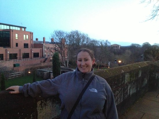 Walls of Chester: On the walls above the Roman Gardens