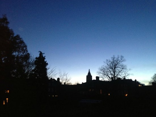 Walls of Chester: Venus visible in the night sky