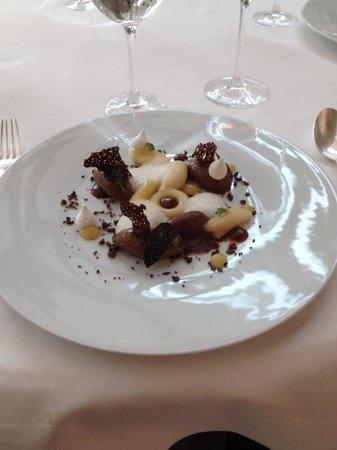 Restaurant Clair de Plume Gastronomique : oeuf basse cuisson