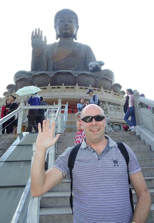 Tian Tan Buddha (Big Buddha): Yes of course you have to do the silly pose...
