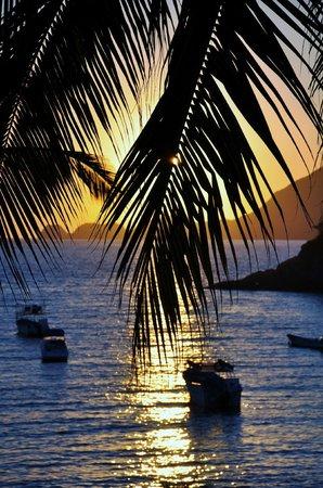 Tesoro Manzanillo: Sunset from our balcony. Room 208
